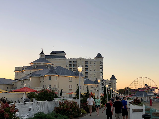 Sunset over Hotel Breakers at Cedar Point, Sandusky, Ohio