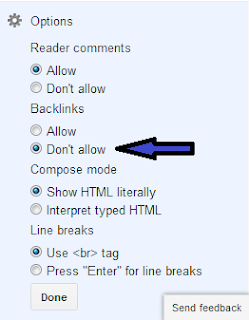 How to Disable Backlinks and HTML codes in Blogger comments