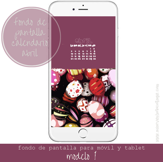 free april wallpaper calendar, Esater eggs