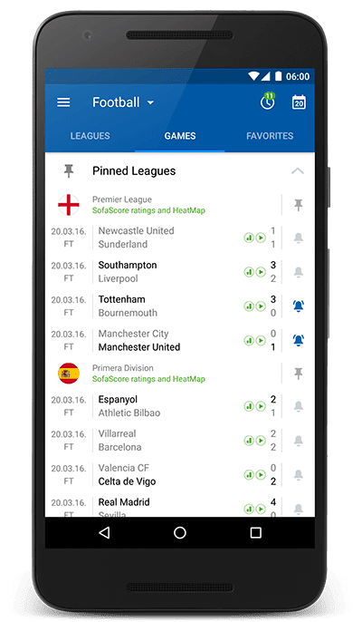 Android Mauritius: SofaScore for Android updated with ...