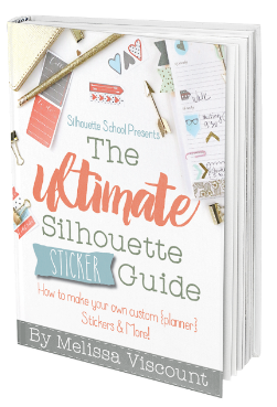 Ultimate silhouette sticker guide stickers silhouette print and cut silhouette for dummies book