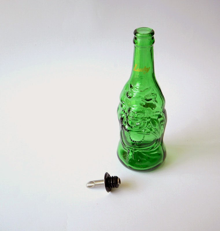 Beer bottle used for olive oil bottle