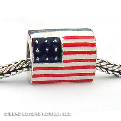 Flag Bead for Memorial Day