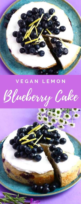 Vegan Lemon Blueberry Cake