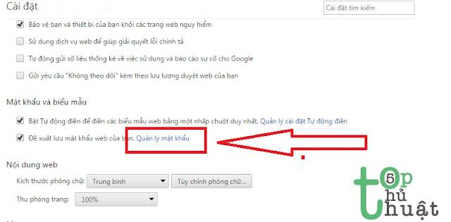 Quản lý mật khẩu trên Chrome
