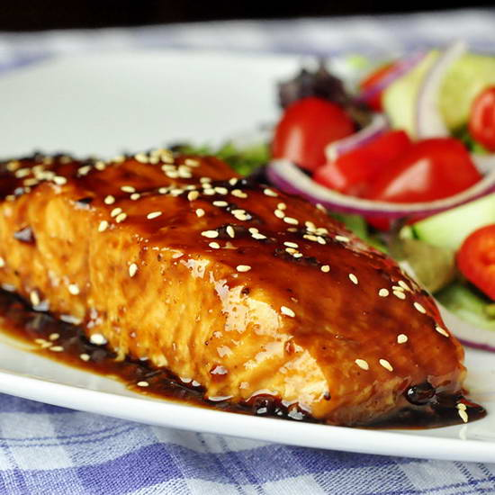 Five Spice Teriyaki Salmon