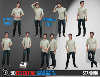 i13 50 Essential Poses for the Genesis 3 Male