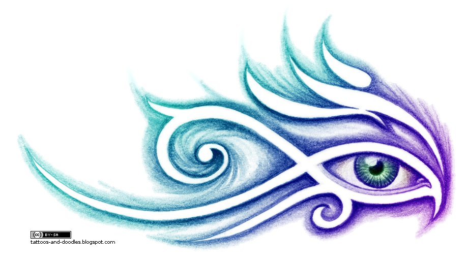 134e9c00c4e81 Tattoos and doodles: Tribal eye