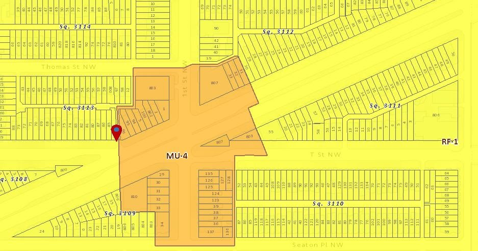 bloomingdale: ! check out the new DC zoning map! R-4 is ...