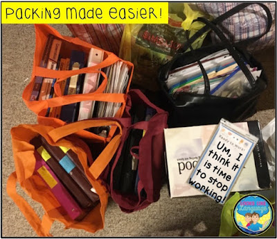 Organizing makes packing up easier- Looks Like Language