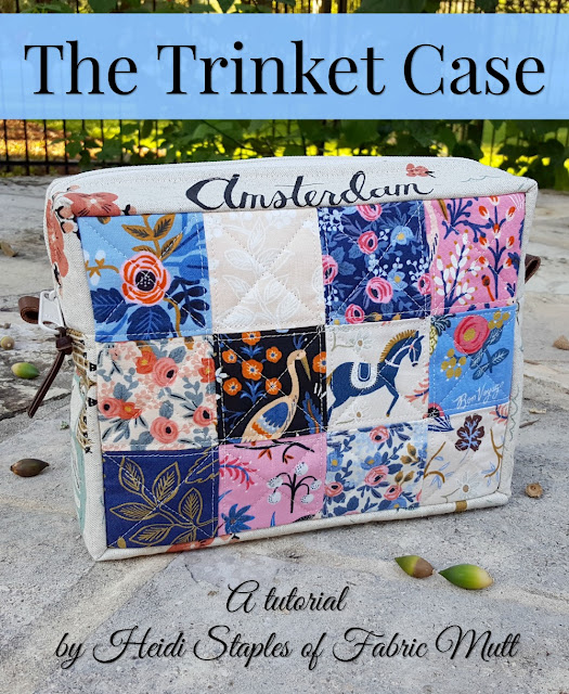 The Trinket Case Tutorial by Heidi Staples of Fabric Mutt for Fat Quarter Shop