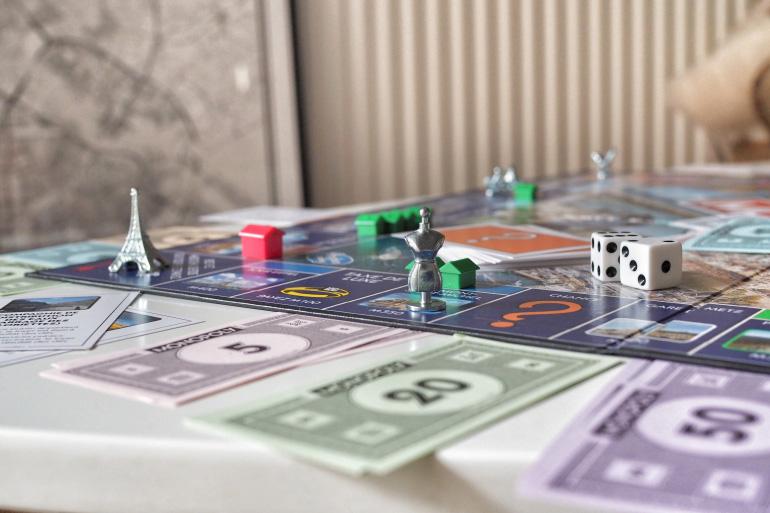 Jeu de société - partie de Monopoly
