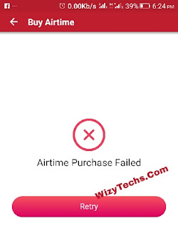 Airtime purchase failed