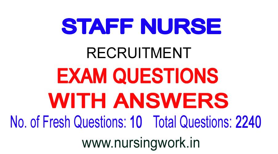 NURSING WRITTEN TEST SAMPLE QUESTIONS: AIIMS STAFF NURSE EXAM MCQ ...