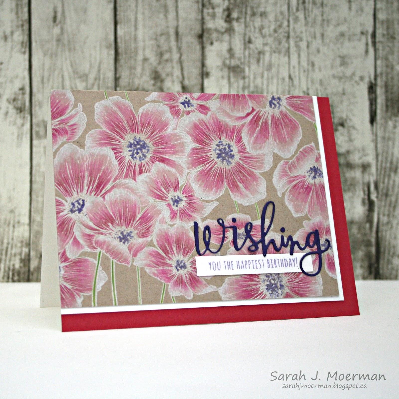 My Impressions Sss Many Flowers Birthday Card March Card Kit Winner