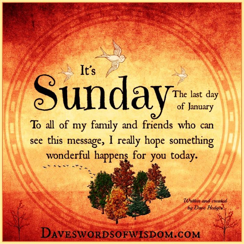 Daveswordsofwisdomcom Sunday Wishes