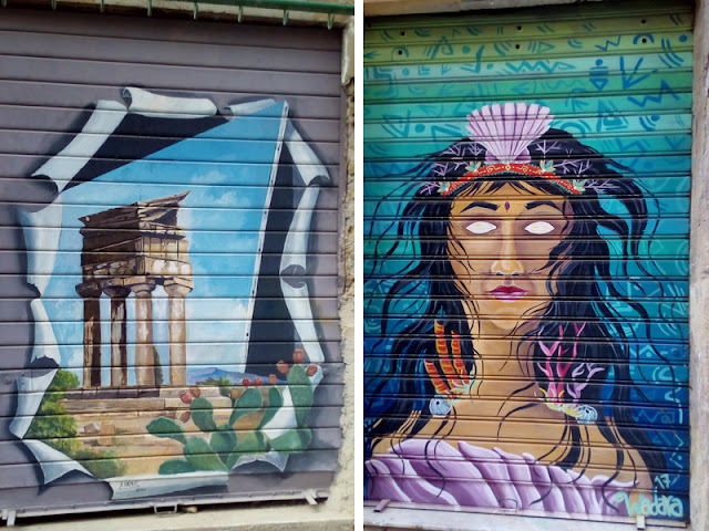 street art in via neve ad agrigento