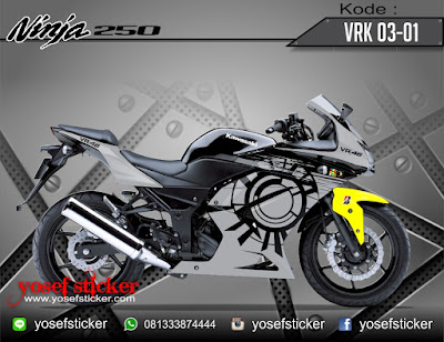 CUTTING STICKER decal printing NINJA 250 KARBU