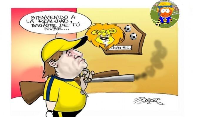 Caricaturas Del America Vs Leon