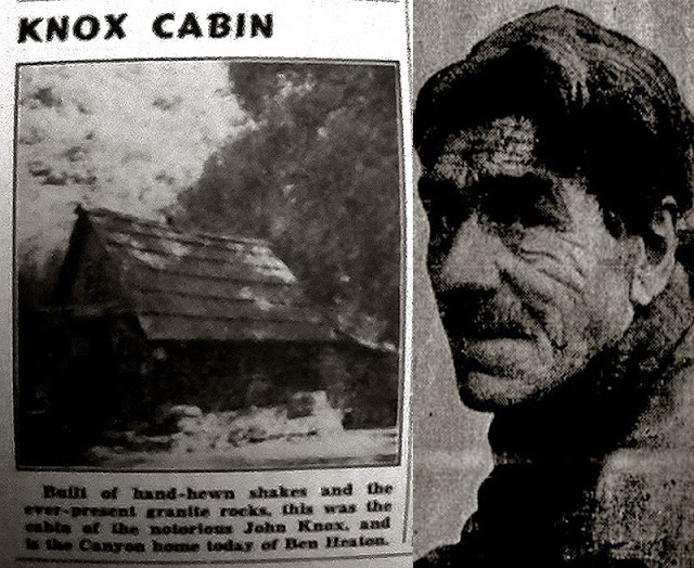 John Knox Portwood's cabin in Cattle Canyon was the site of the shootout that ended his life. Benjamin Heaton moved in after Knox was gone.
