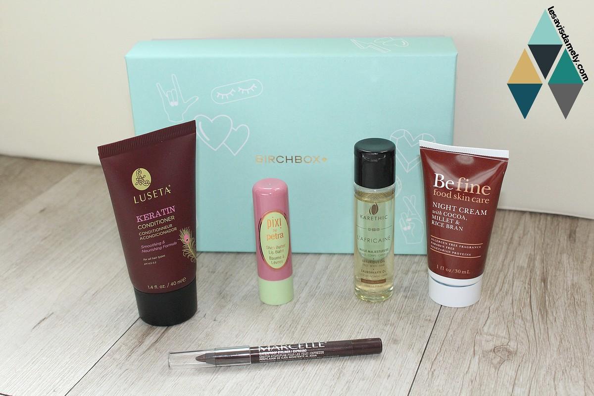 test birchbox cosmétiques