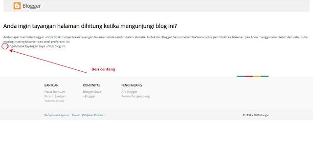 Agar kunjungan sendiri tidak dihitung blogger 2