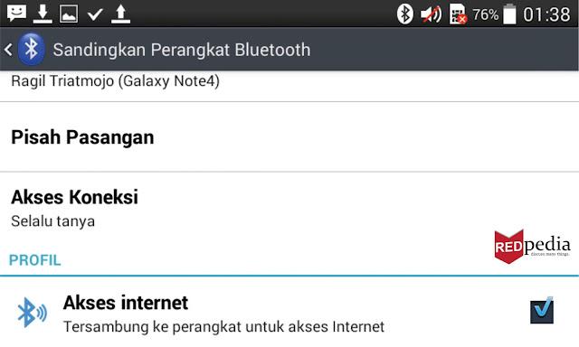 Status Tethering Bluetooth