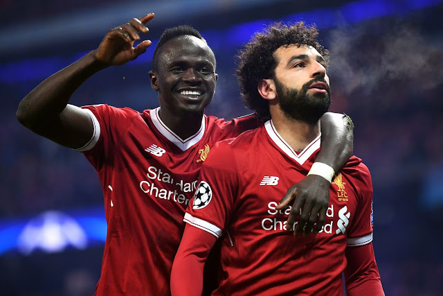 Liverpool star players Mane and Salah