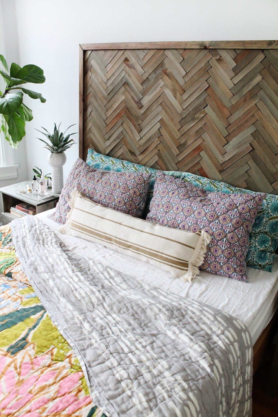 Create A Herringbone Wood Headboard