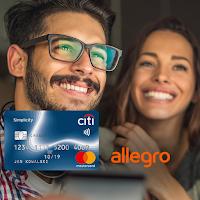 Voucher 300 zł na zakupy w serwisie Allegro za kartę Citi Simplicity od Citibanku