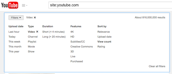 YouTube Global Search