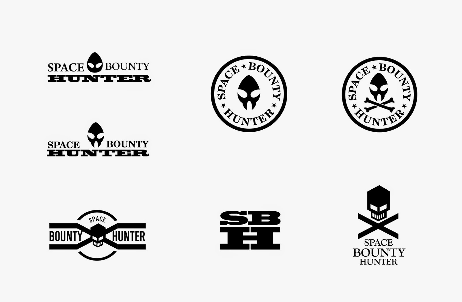Bounty hunter unity development blog first iterations with logos and possible graphics decals for the spaceship or uniforms buycottarizona Image collections