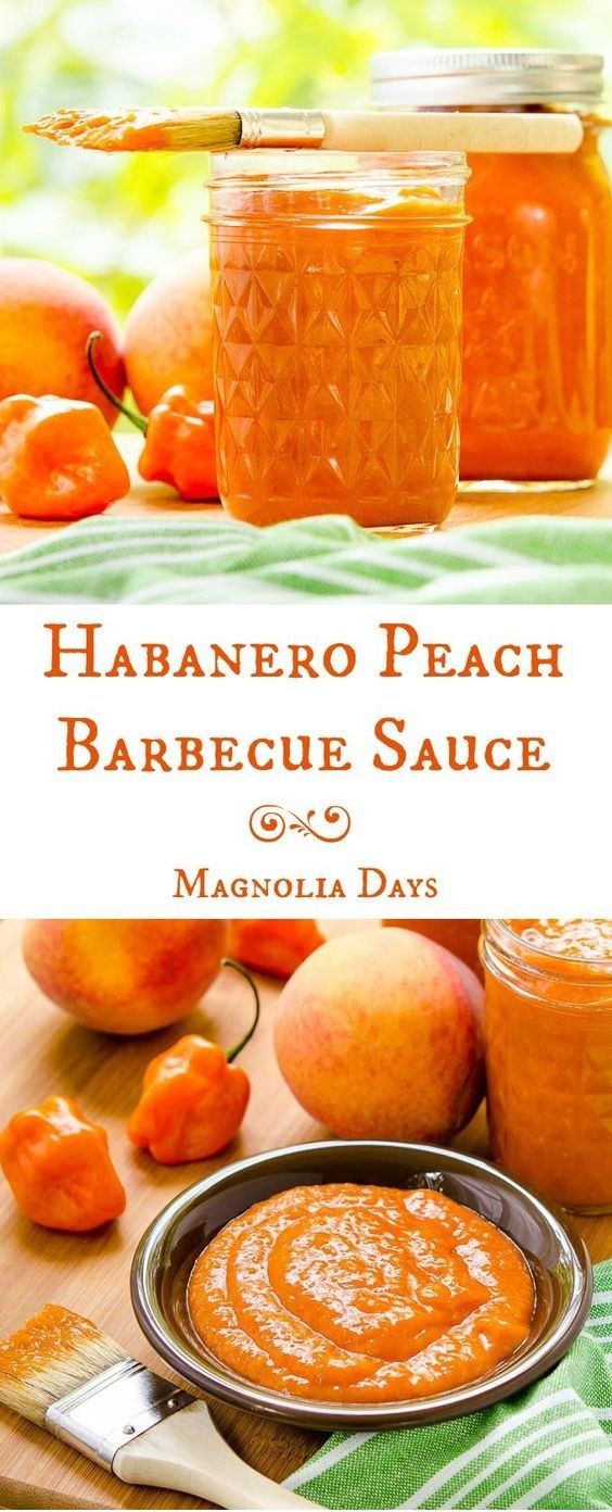 Habanero Peach Barbecue Sauce