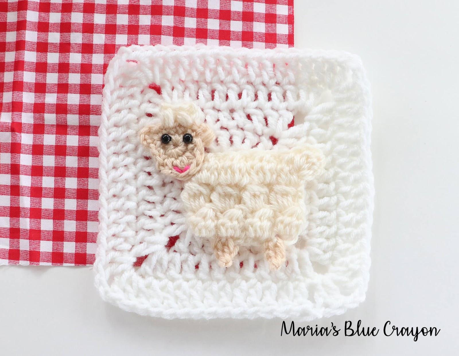 a4f33ebae759fb Crochet Sheep Applique – Free Crochet Pattern