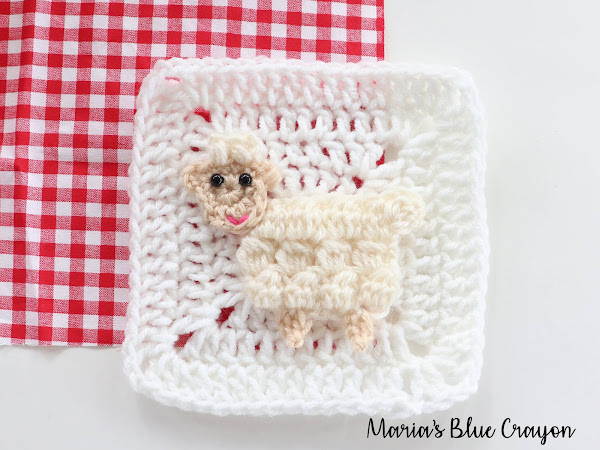 Crochet Sheep Applique - Free Crochet Pattern
