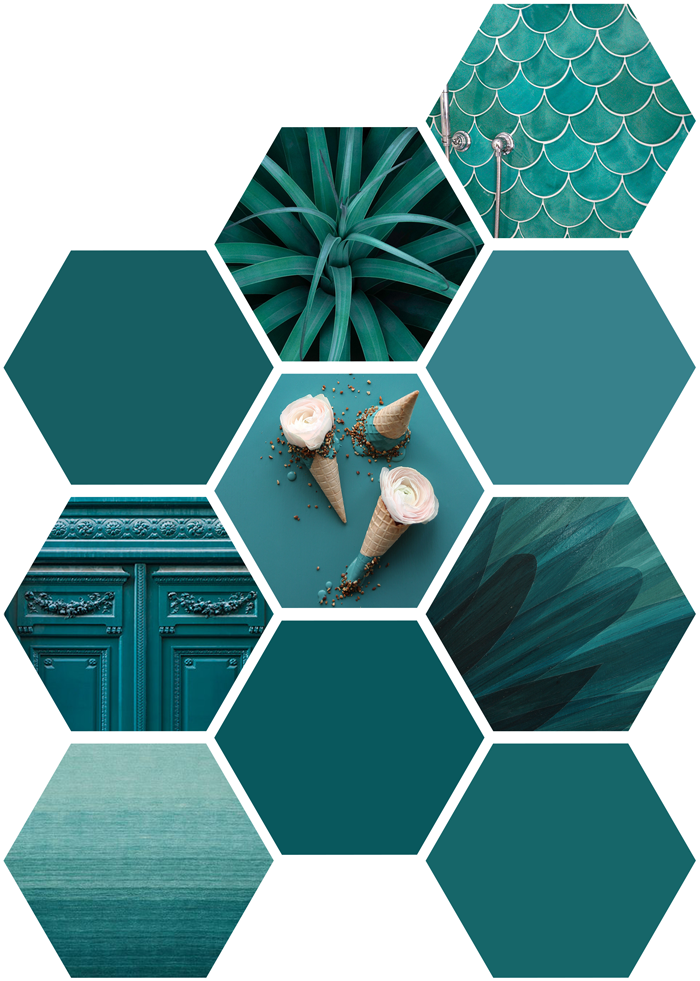 Pantone Fall 2017 color trend report, teal, blue, green, turquoise, photography, art