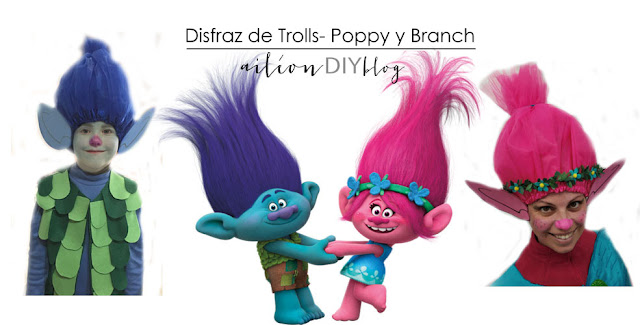 disfraz trolls aileon casero diy
