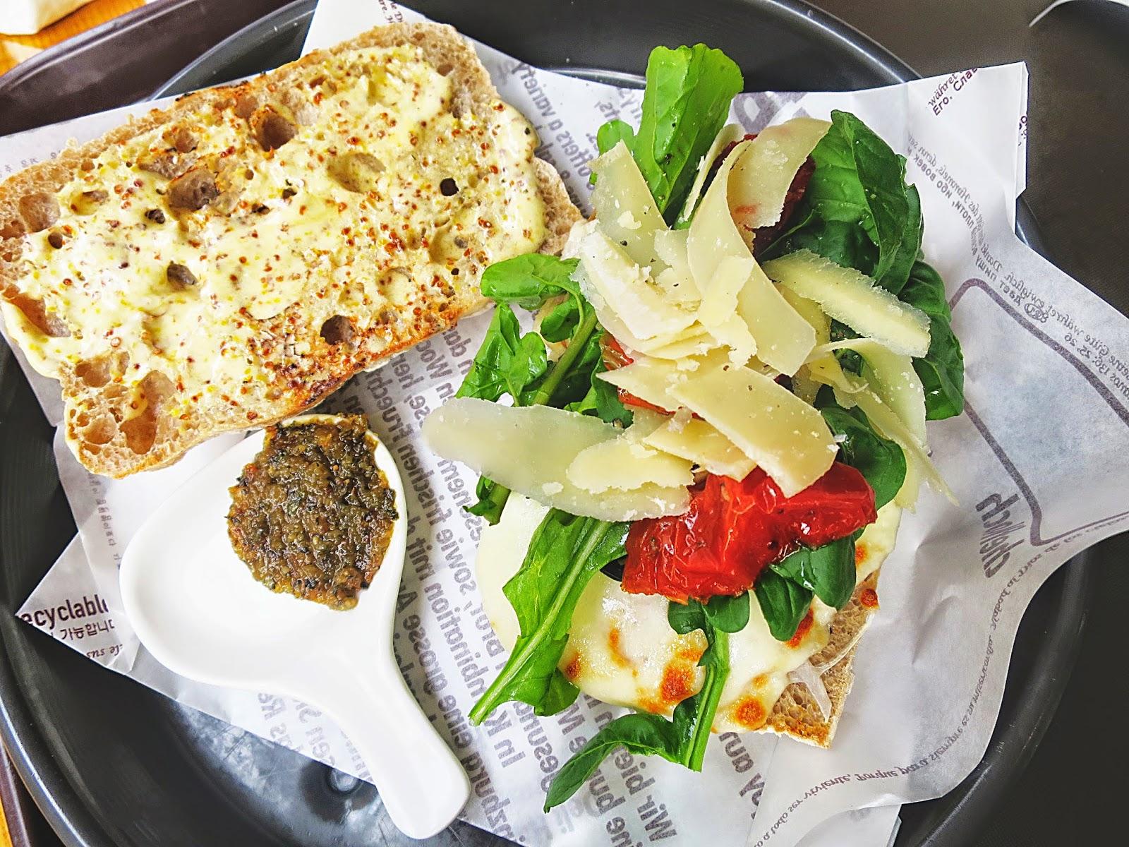 photo of the Pizza Panini served at Deli Heinzburg