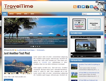 wordpress subcategory template - 4 beautiful new blogger templates including traveltime