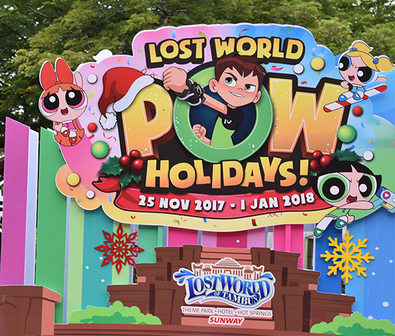 Powerpuff girls and Ben 10 at Lost World Of Tambun