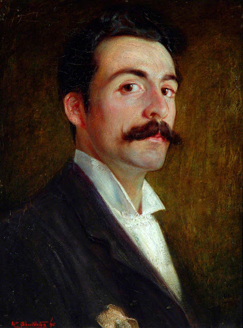 William Shackleton, Self Portrait, Portraits of Painters, Fine arts, Portraits of painters blog, Paintings of William Shackleton, Painter William Shackleton
