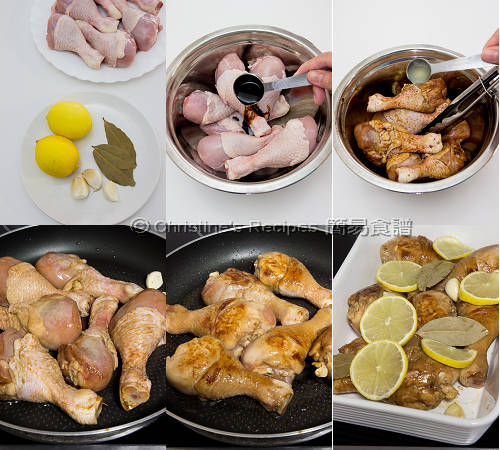 焗檸檬蜜糖小雞腿製作圖 Baked Honey Lemon Chicken Drumsticks Procedures01