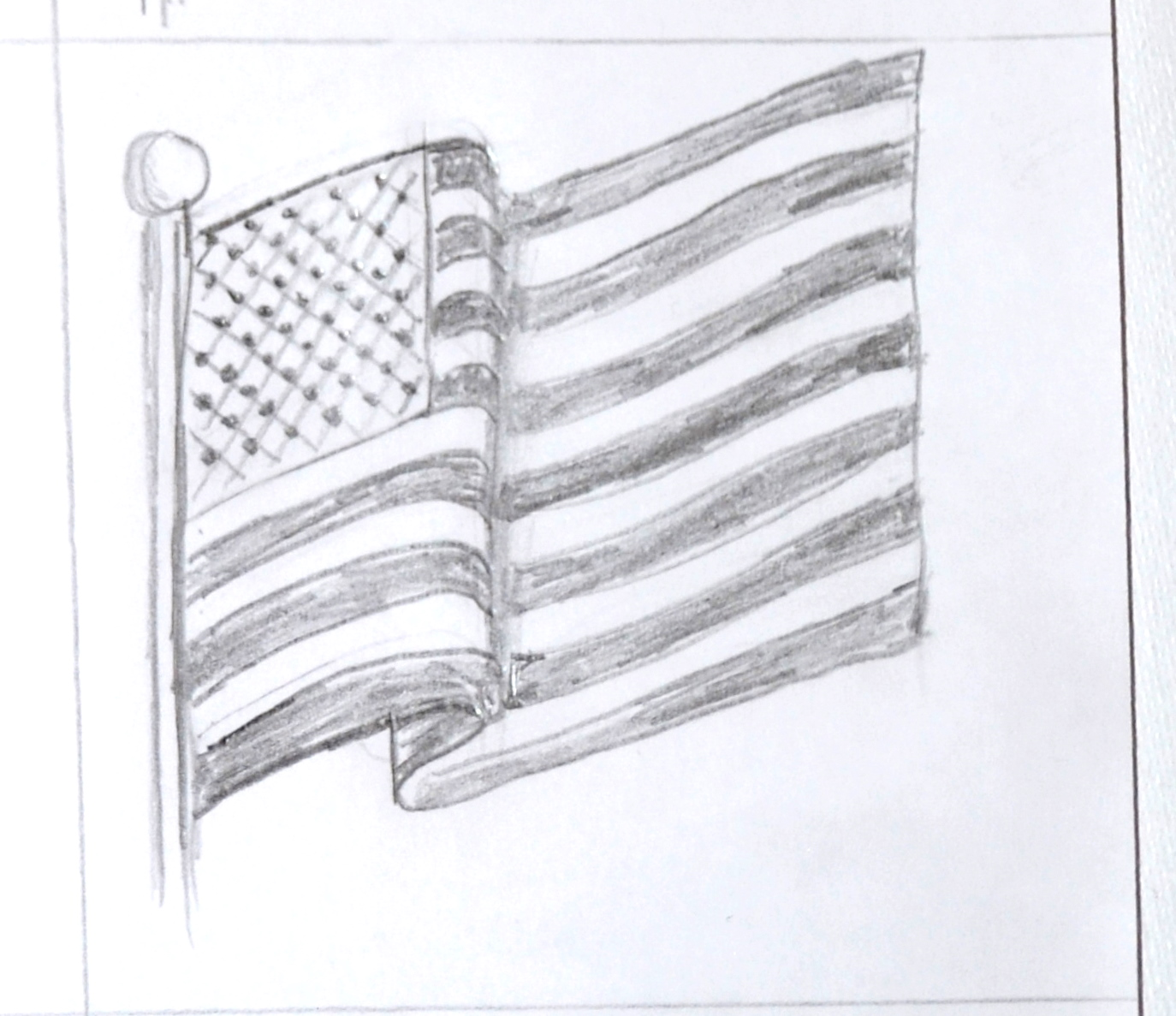 Art Class Ideas Waving American Flag