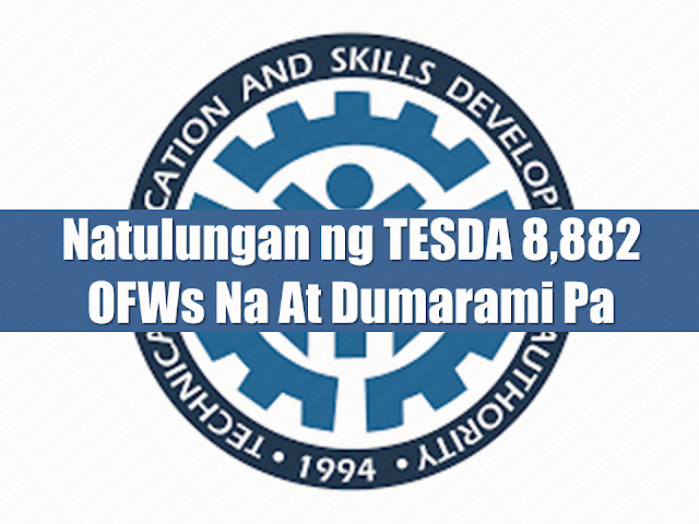 """Technical Education and Skills Development Authority (TESDA) has been extending their help to Filipino families including the Overseas Filipino Workers (OFWs) by providing training and skills in different fields that are used to develop and upgrade the Filipino workforce, making them globally competitive. It also helps the Filipinos get their dream jobs locally and overseas. Advertisement       Sponsored Links     TESDA (Technical Education and Skills Development Authority) was founded under Republic Act. No. 7796, or Technical Education Skills Development Authority Act of 1994. It aims to develop skills for the advancement of the human resources in the Philippines to provide a better future for its citizens. TESDA  is setting programs and standards to lead the people to progress to be world class in food processing, dressmaking, housekeeping among others, thus, providing them with excellent  technical education and skills development   TESDA's mission is to give directions, policies, and programs for quality technical education to upgrade the skills of every Filipino.  After the training, TESDA  grants every trainee with a certification.  Today, TESDA  records show that it already provided help to   8,882 Overseas Filipino Workers (OFWs) and their dependents.   According to TESDA Director General, Sec. Guiling """"Gene"""" A. Mamondiong, the said number is based on the accomplishment report of the Partnership and Linkages Office (PLO) in accordance with the Reintegration Program for Overseas Filipino Workers (OFWs) for 2017.  """"For 2017, a total of 8,882 Overseas Filipino Workers (OFWs) and their dependents were provided assistance by TESDA,"""" PLO Report said.   In total, 1,749 were granted scholarships through training for work scholarship (TWSP), including 189 TESDA beneficiaries of Emergency Skills Training Program (TESTP); special training for employment program (STEP) 129; bottom-up budgeting (BuB), 102; at private education financial assistance (PESFA), 35.   Based o"""