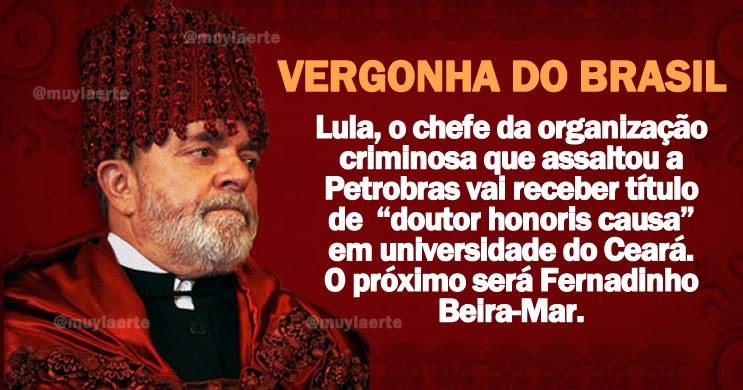 """Grupo pede cancelamento de título de """"doutor honoris causa"""" de Lula em universidade do Ceará - Imprensa Viva"""