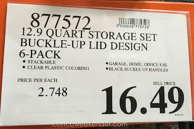 Costco 877572 - Deal for the Iris Buckle Up Storage Set at Costco