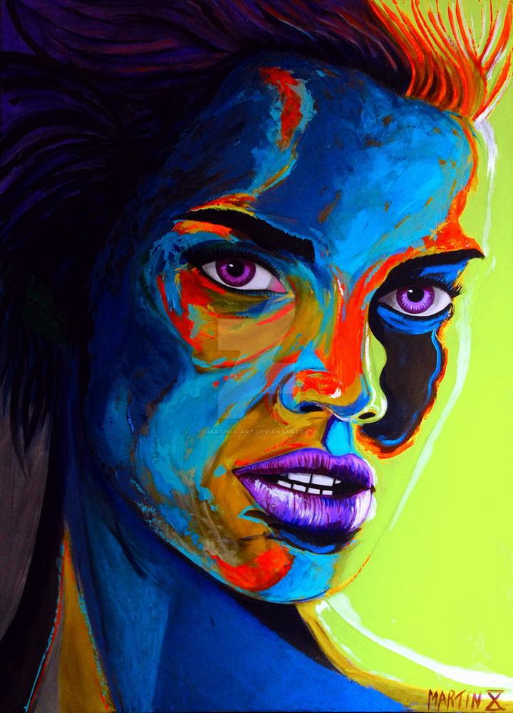 Imgenes Arte Pinturas Rostros De Lindas Chicas Pinturas