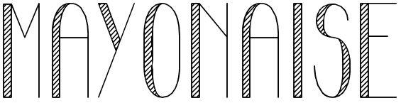 tipografia rayada
