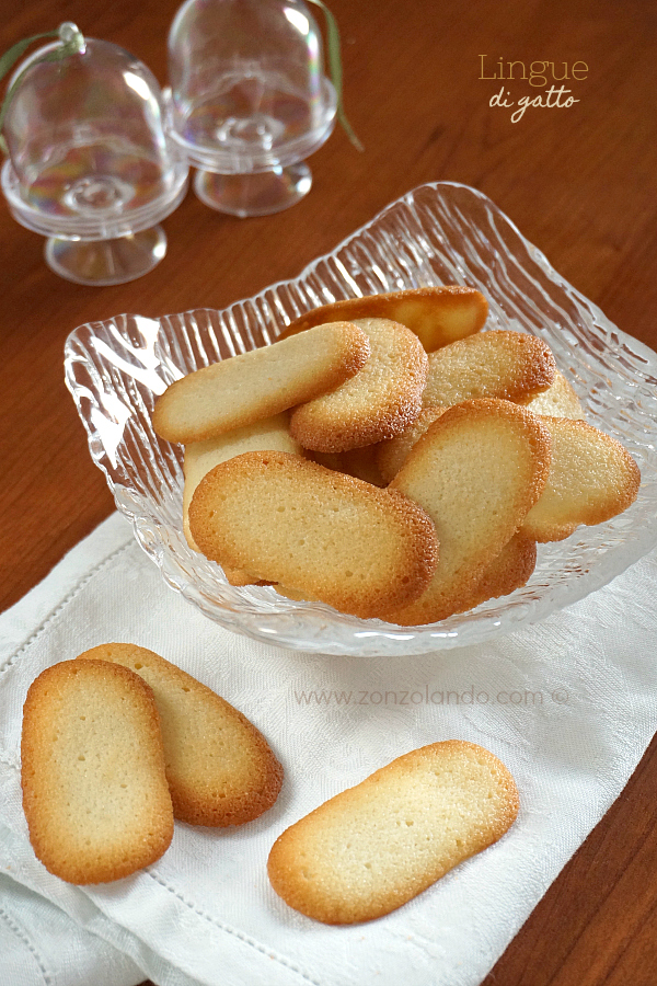 Biscotti lingue di gatto ricetta - Cat's tongue cookie recipe - langues de chats recette