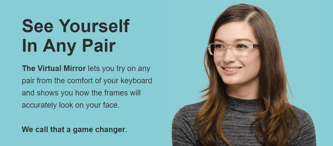 online glasses virtual mirror